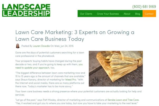 Lawn Care Marketing 3 Experts on Growing a Lawn Care Business Today